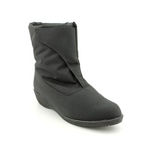 Toe Warmers Easy On Women WW Round Toe Canvas Snow Boot