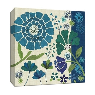 """PTM Images 9-152469  PTM Canvas Collection 12"""" x 12"""" - """"Blue Garden II"""" Giclee Flowers Art Print on Canvas"""