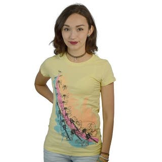 Catwalk Dragonflies Women's Yellow T-shirt|https://ak1.ostkcdn.com/images/products/is/images/direct/b3f7933dd2eb74058854480211011dd6b1fab0b9/Catwalk-Dragonflies-Women%27s-Yellow-T-shirt.jpg?impolicy=medium