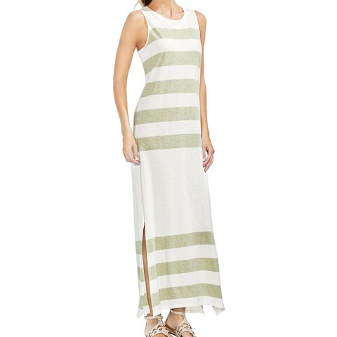 Vince Camuto Green Sage Striped Women's Size Small S Maxi Dress