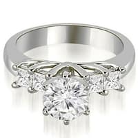 1.15 CT.TW Princess and Round Cut Diamond Engagement Ring in 14KT - White H-I