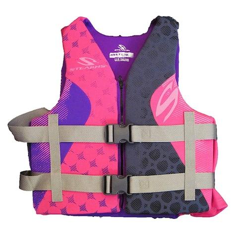 Stearns PFD 5412 Adult Hydroprene Kit C002, Pink/Purple L/XL