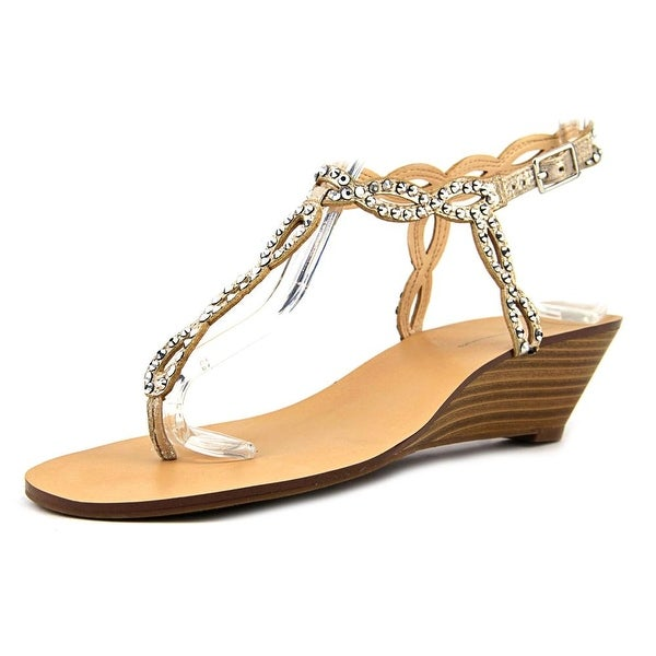 INC International Concepts Minad Women Open-Toe Synthetic Gold Slingback Sandal