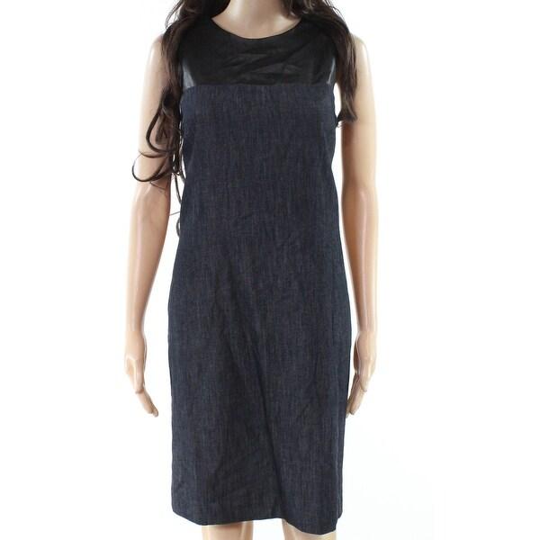 Lauren by Ralph Lauren Womens Denim Zip Shift Dress