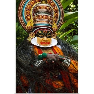 """Portrait of Kathakali dancer in full costume"" Poster Print"