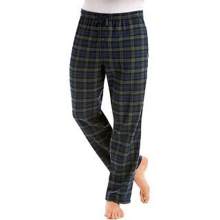 Hanes Men's Jersey Flannel Pants - Size - 2XL - Color - Green Plaid