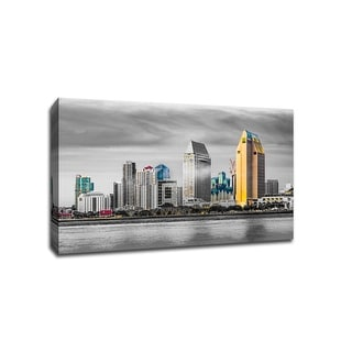 San Diego - Touch of Color Skylines - 36x24 Gallery Wrapped Canvas Wall Art ToC