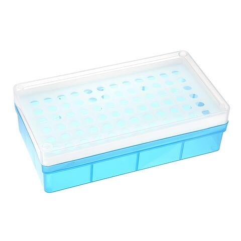 2 Pcs Tube Rack Polypropylene 72-Well Blue for 0.5ml