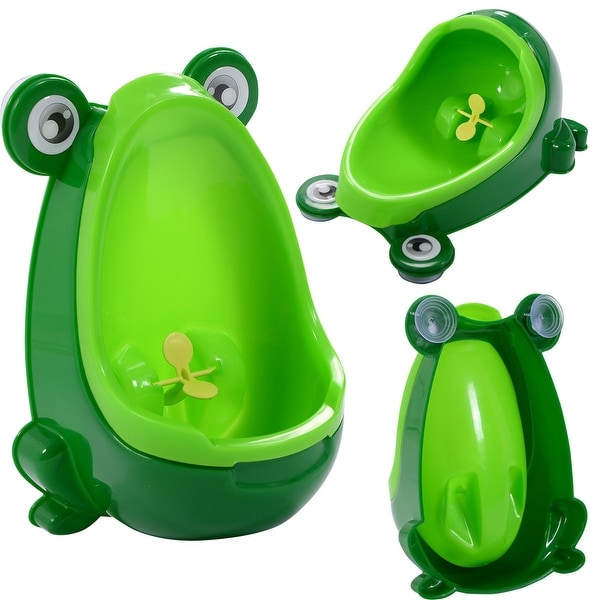 Costway New Cute Frog Potty Training Urinal for Boys with Funny Aiming Target Green