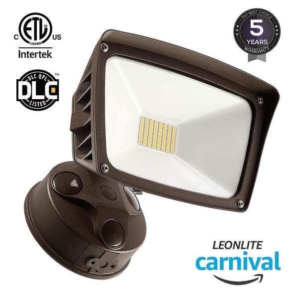 Dusk To Dawn Light Rural King: Shop LEONLITE 28W Dusk-to-dawn LED Flood Light, Ultra