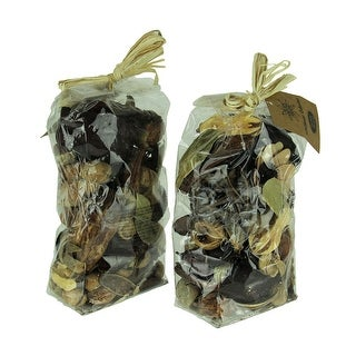 Double Bag Lot of Natural Dried Botanical Decorative Filler - 9 X 4.75 X 3 inches
