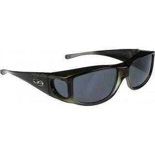 Jonathan Paul Fitovers Large Jett Olive Charcoal Polarized Gray Sunglasses