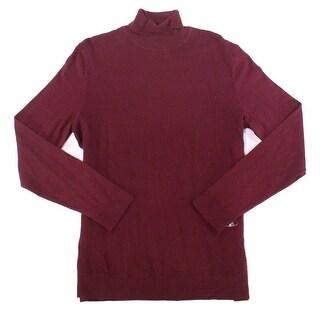 Alfani Port Red Mens Size Large L Pullover Turtleneck Sweater