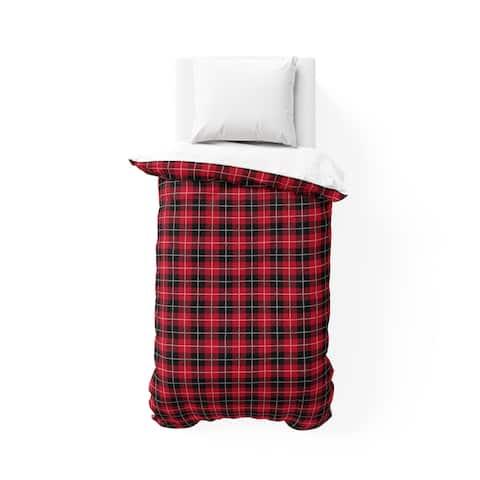 TARTAN RED AND BLACK College Dorm Comforter By Terri Ellis