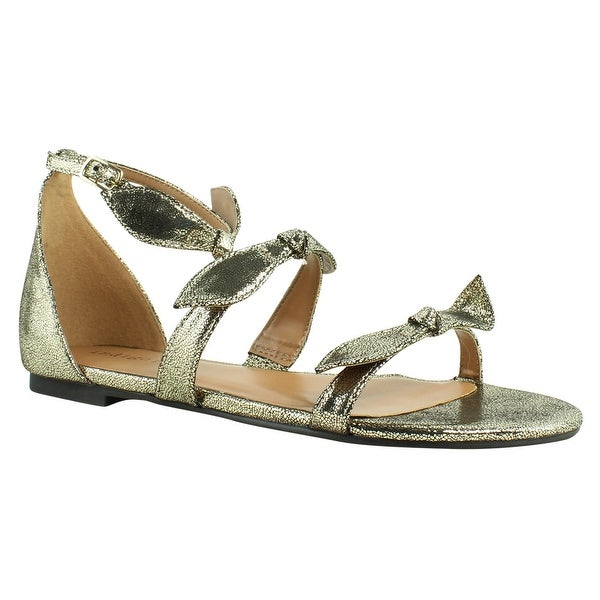 62d9bf6fbec Indigo Rd. Womens Gold Ankle Strap Sandals Size 6.5 New. Click to Zoom