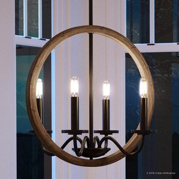 Shop Luxury Modern Farmhouse Chandelier 30 Quot H X 15 75 Quot W