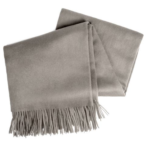 STP-Goods Ash Cashmere & Wool Throw Blanket