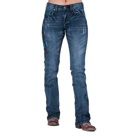 Cowgirl Tuff Western Denim Jeans Womens Southwest Pride Med