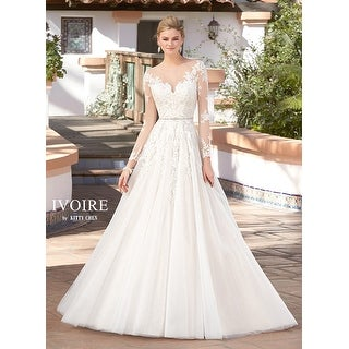 Embroidered Tulle A-Line Illusion Neckline Wedding Gown|https://ak1.ostkcdn.com/images/products/is/images/direct/b402074c71cf4cc093838ddf787076987d2a7ca3/Tulle-A-Line-Wedding-Gown.jpg?_ostk_perf_=percv&impolicy=medium