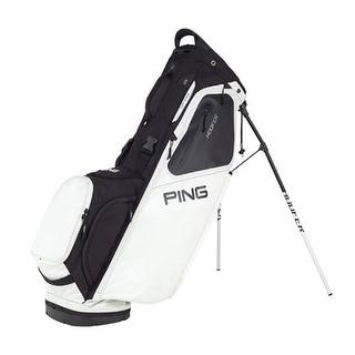 New Ping 2018 Hoofer Golf Stand Bag (White / Black) - White / black