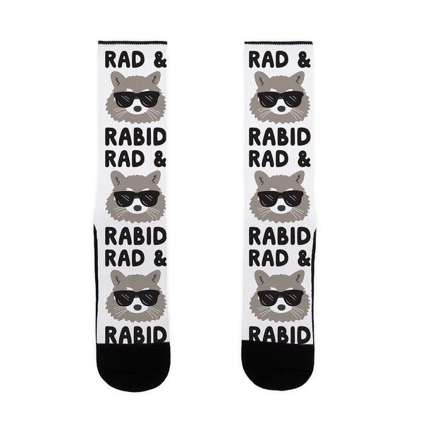 LookHUMAN Rad & Rabid US Size 7-13 Socks