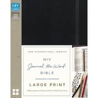 Niv Journal The Word Bible-Large Print, Black