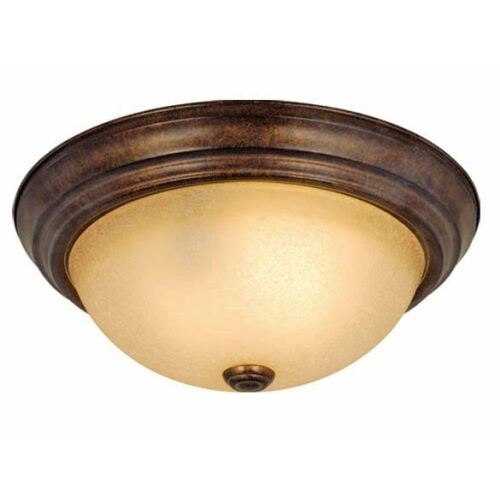 Vaxcel Lighting CC25111 Saturn 2 Light Flush Mount Indoor Ceiling Fixture with Frosted Glass Shade - 11.25 Inches Wide