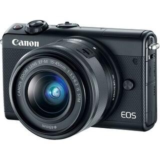 Canon EOS M100 Mirrorless Camera w/ EF-M 15-45mm Lens (Black)