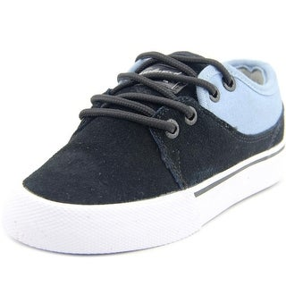 Globe Mahalo Kids Youth Round Toe Suede Black Skate Shoe