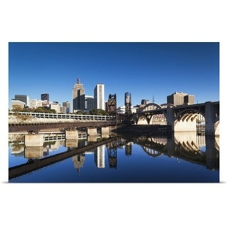 Poster Print entitled Minneapolis, St. Paul, Minnesota, City View