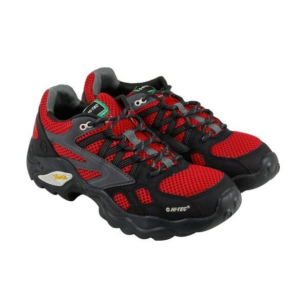 Hi-Tec V Lite Flash Force Low I Mens Black Mesh Hiking Lace Up Boots Shoes