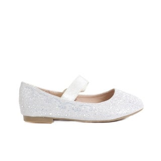 Girls' Embellished Ankle Strap Ballet Flat