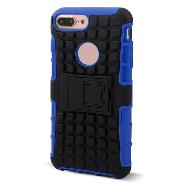 Cell Phone Plastic Stand Design Shockproof Case Cover Blue for iphone 7 Plus