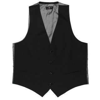 Marc Ecko Mens Virtue Suit Vest Trim Fit Belted Back