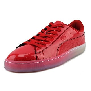 Puma Basket Patent Ice Fade Men  Round Toe Synthetic Red Sneakers
