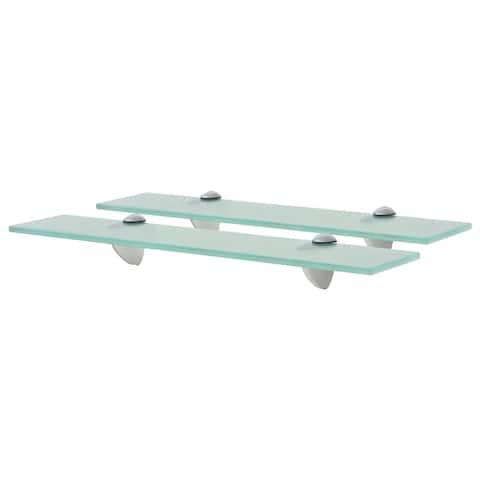 "vidaXL Floating Shelves 2 pcs Glass 19.7""x7.9"" 0.3"""