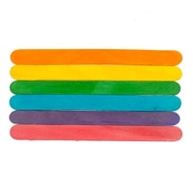 "1000 Pcs of 6"" Colored Jumbo Craft Sticks 6"" tall x 3/4"" wide x 1/16"" thick"