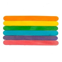 "1500 Pcs of 6"" Colored Jumbo Craft Sticks 6"" tall x 3/4"" wide x 1/16"" thick"