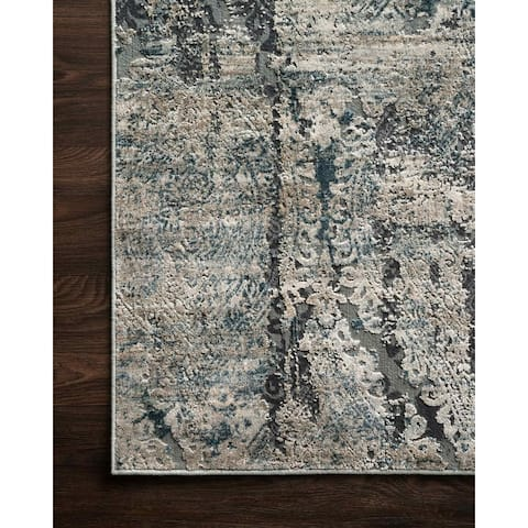Alexander Home Vintage Glam Modern Distressed Area Rug