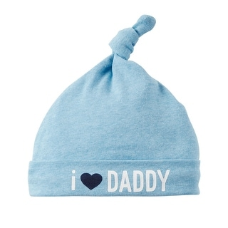 Carter's Baby Boys' I Love Daddy Beanie, Blue, One Size