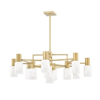 Link to Hudson Valley Centerport 12-Light Chandelier with Alabaster Shade Similar Items in Pendant Lights