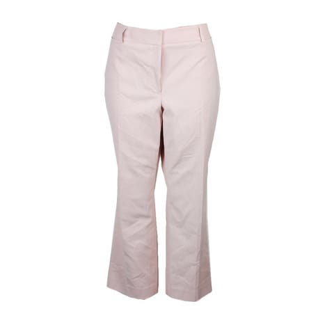 Tommy Hilfiger Dusty Pink Cropped Straight-Leg Pants 4
