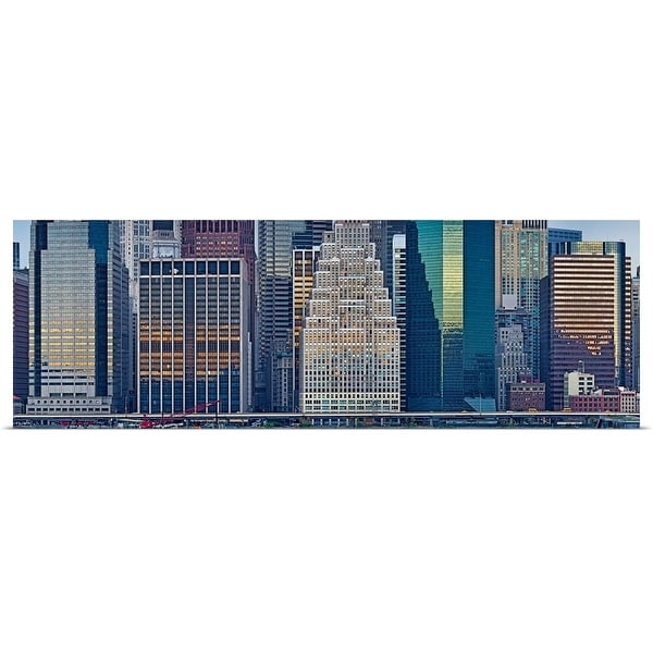 """Skyscrapers in a city, New York City, New York State"" Poster Print"