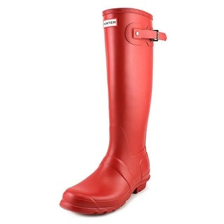 Hunter Original Tall Women  Round Toe Synthetic Red Rain Boot