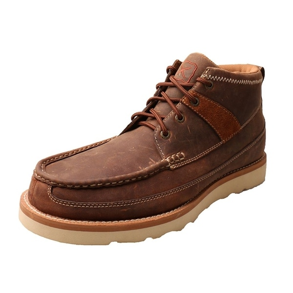 Twisted X Casual Shoes Men Lace Up Leather D Toe Oiled Saddle