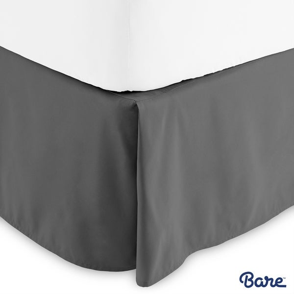Bare Home 15-inch Drop Brushed Microfiber Bed Skirt Pleated Dust Ruffle. Opens flyout.