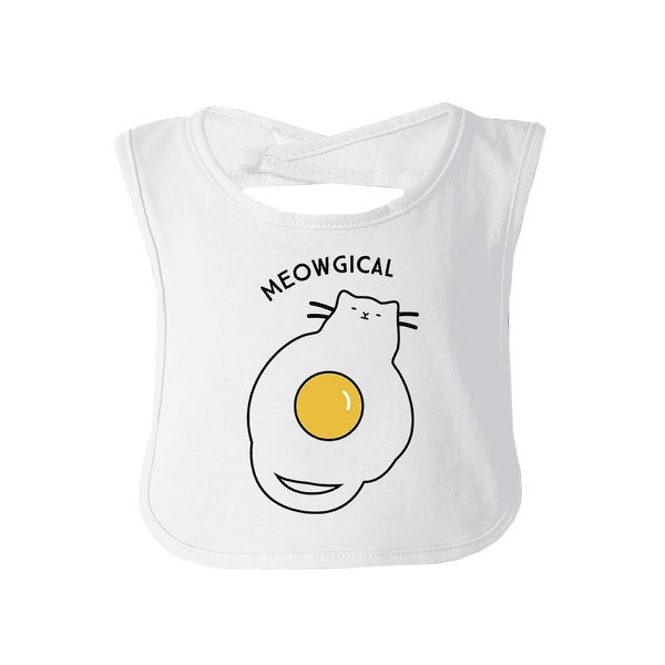 Meowgical Cat White Baby Bib Cute Cat Baby Bib Gift Cat Mom Gifts