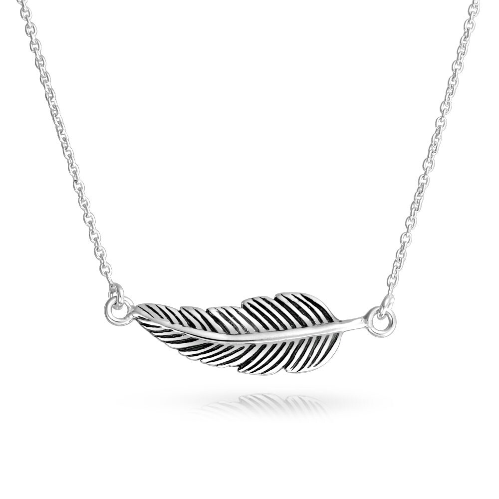 Fashion Women Charm Rhinestone Feather Leaf Pendant Chain Necklace Jewelry Gifts