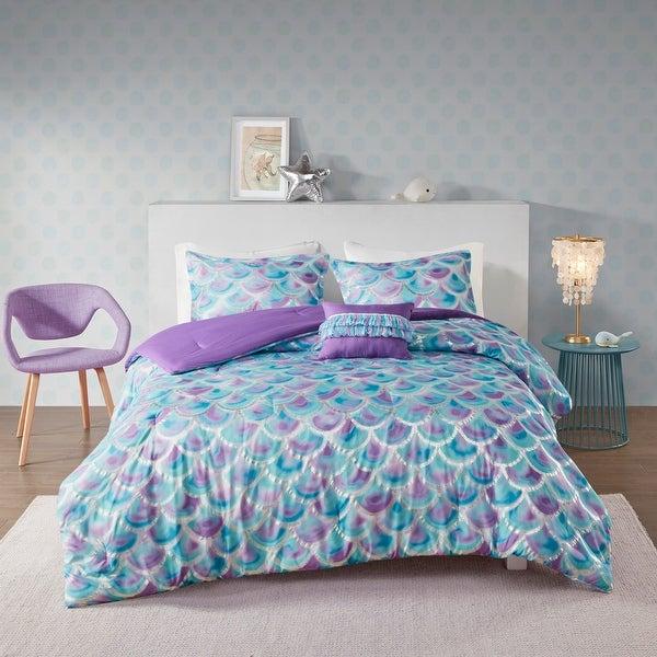 Mi Zone Phoebe Metallic Printed Reversible Comforter Set. Opens flyout.