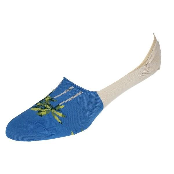 Marcoliani Men's Invisible Tropical Print Liner Socks